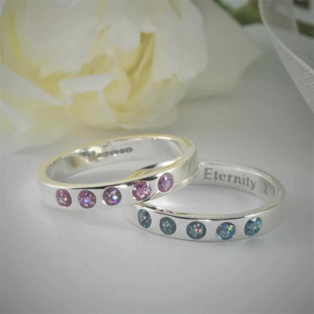 Crystallure-Eternity-Ring-5-stones-3mm-Silver