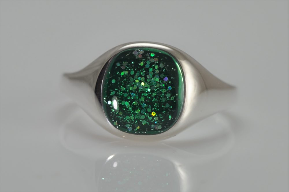 Crystallure-Signet-Ring-Silver-Green