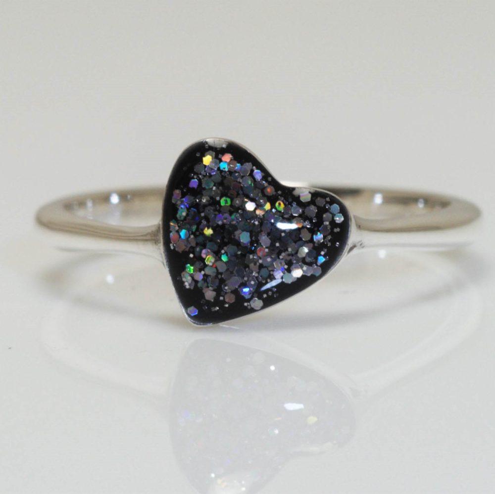Crystallure-Heart-Ring-Silver-Black