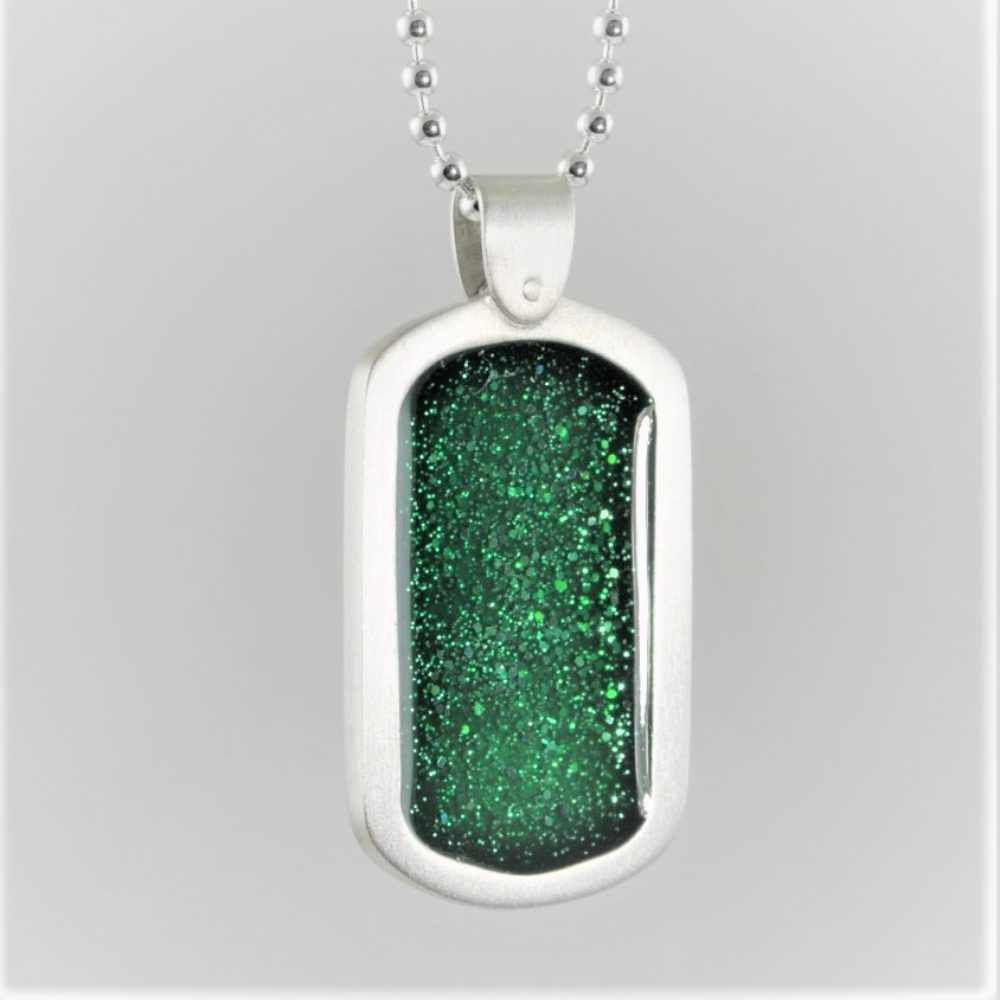 Crystallure-Dog-Tag-Necklace-Green-Square