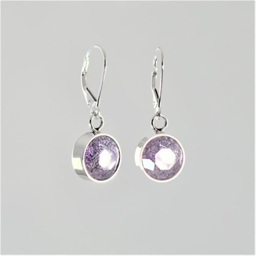 Crystal-Faceted-Round-Earrings-Silver-Hyacinth
