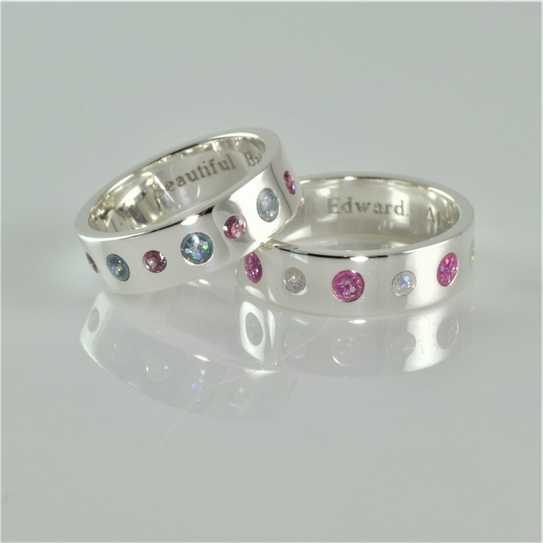 Crystallure-Accent-Band-Ring-Silver